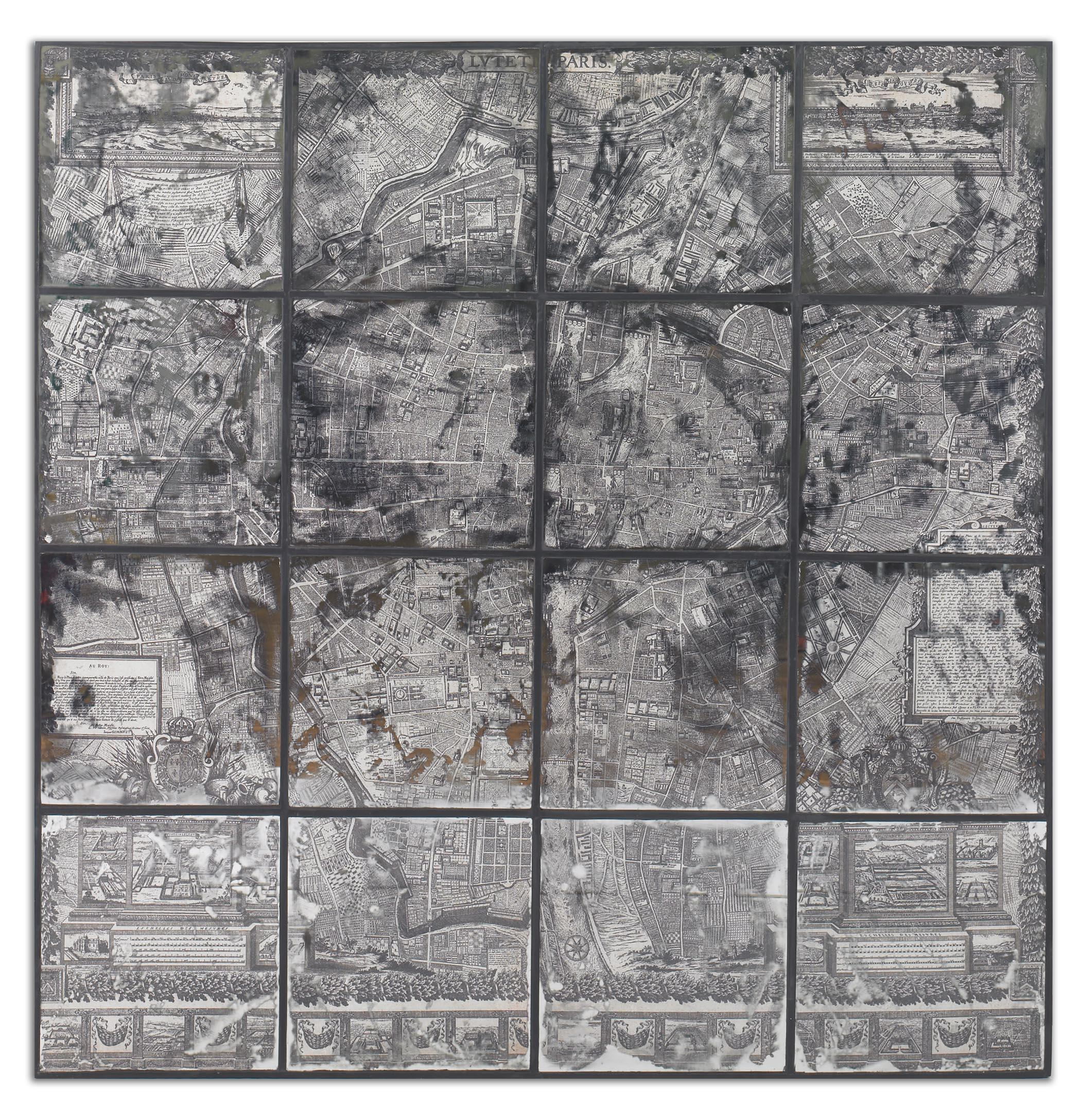 Uttermost Art Antique Street Map Wall Art - Item Number: 55005