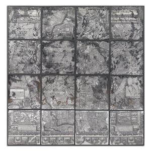 Uttermost Art Antique Street Map Wall Art