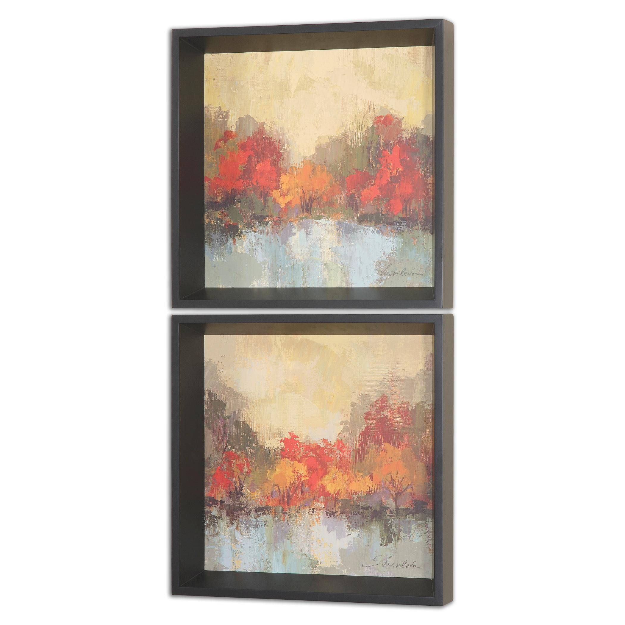 Uttermost Art Fall Riverside Wall Art Set of 2 - Item Number: 55013