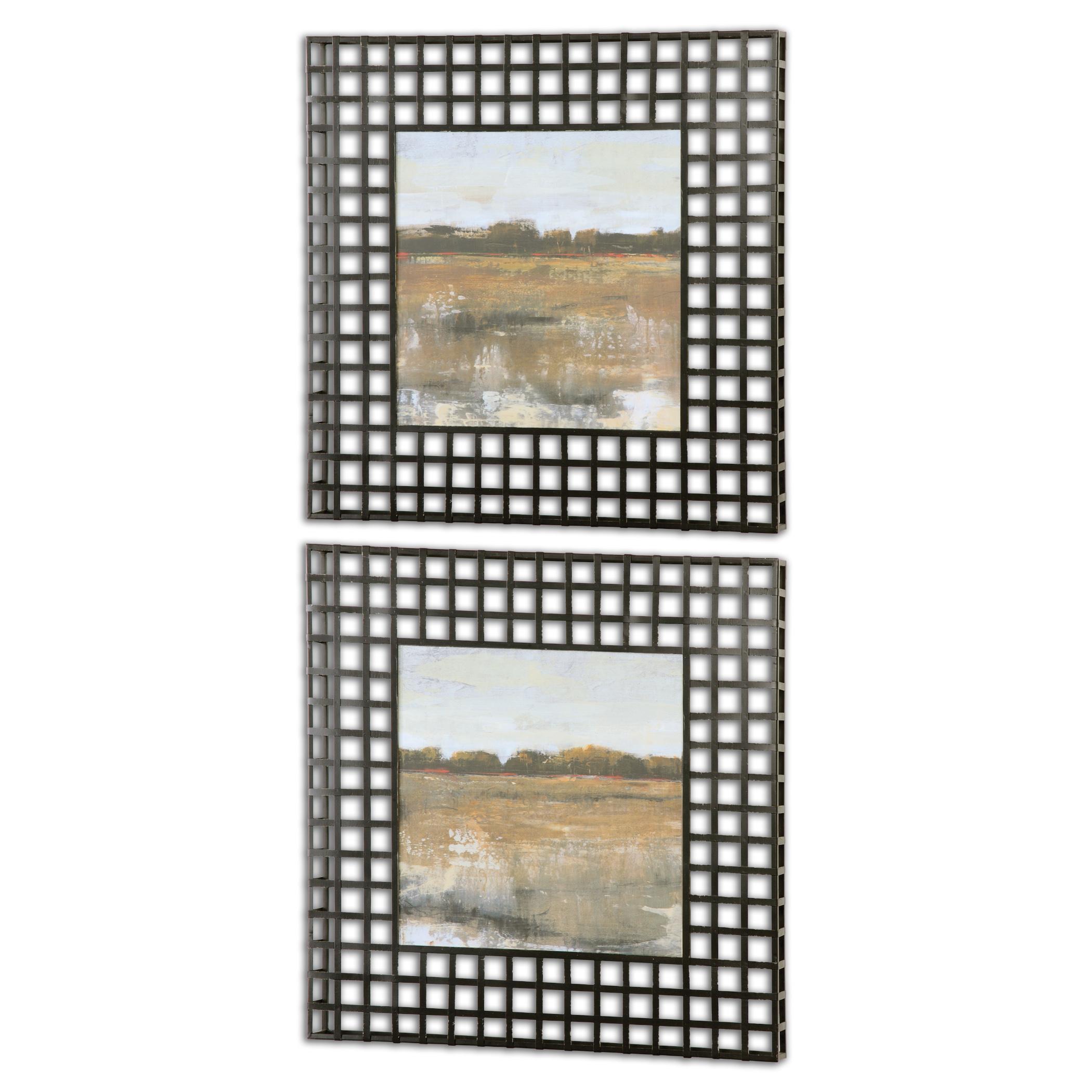Uttermost Art Pastoral Framed Art, Set of 2 - Item Number: 55020