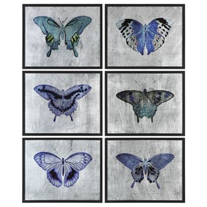 Vibrant Butterflies (Set of 6)