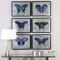 Uttermost Art Vibrant Butterflies (Set of 6)