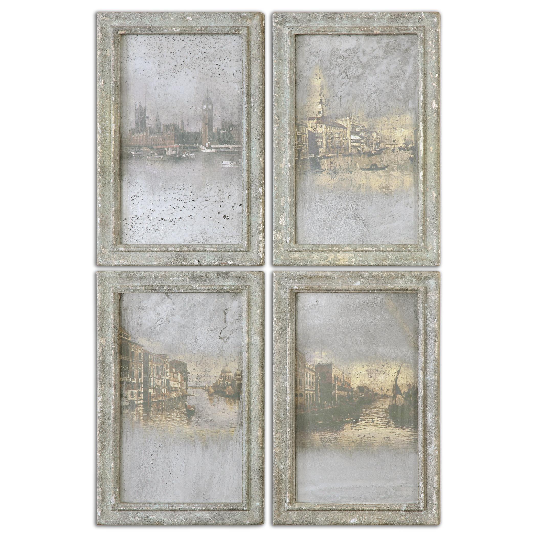 Uttermost Art Antique Venetian Views, Set of 4 - Item Number: 56050