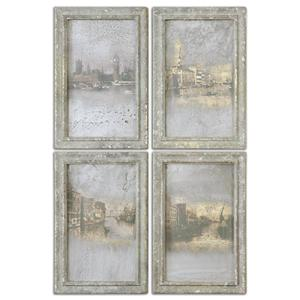 Uttermost Art Antique Venetian Views, Set of 4