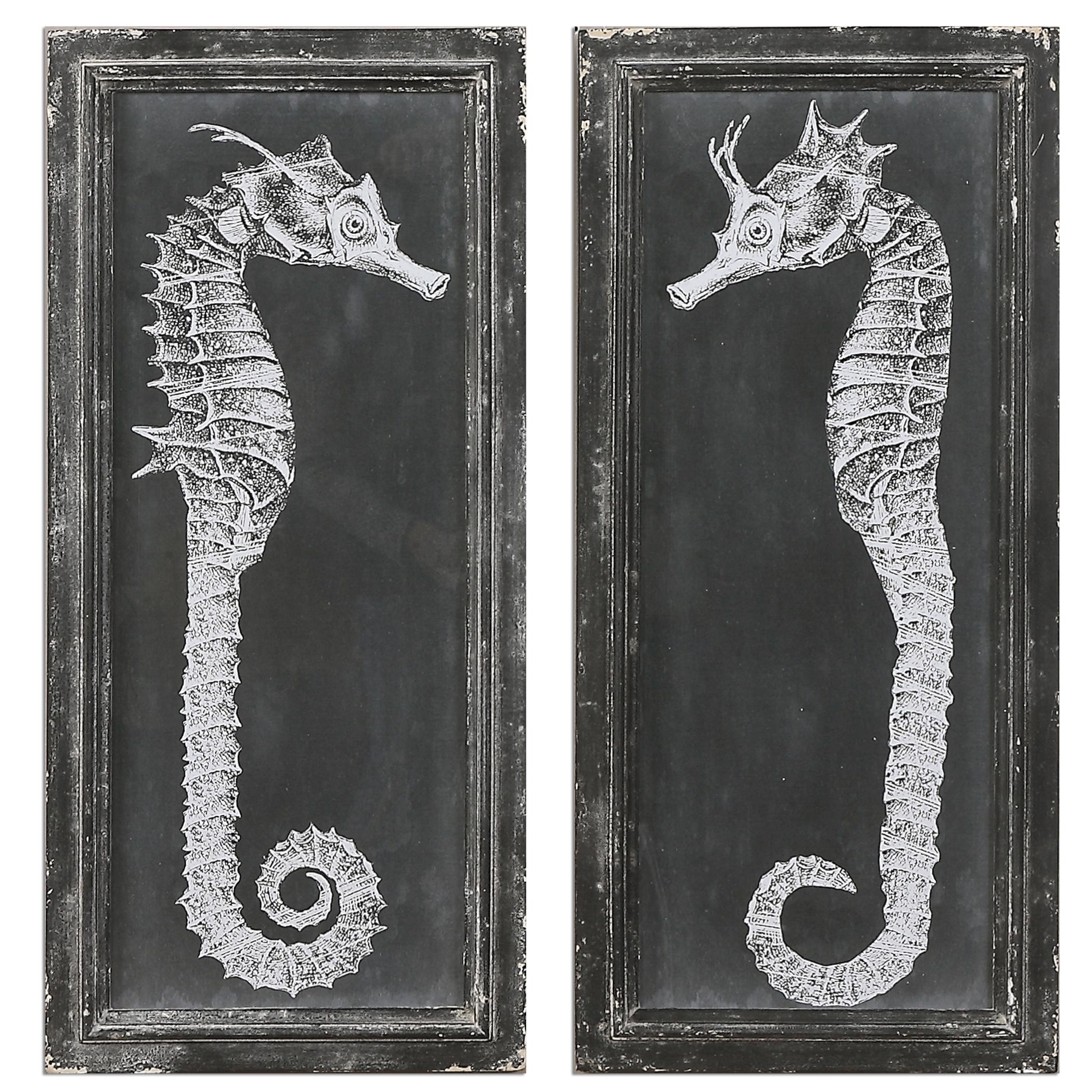 Uttermost Art Seahorse Blueprints Art S/2 - Item Number: 56062