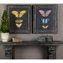 Uttermost Art Butterflies On Slate (Set of 2)