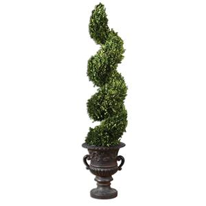 Uttermost Botanicals Preserved Boxwood Spiral Topiary