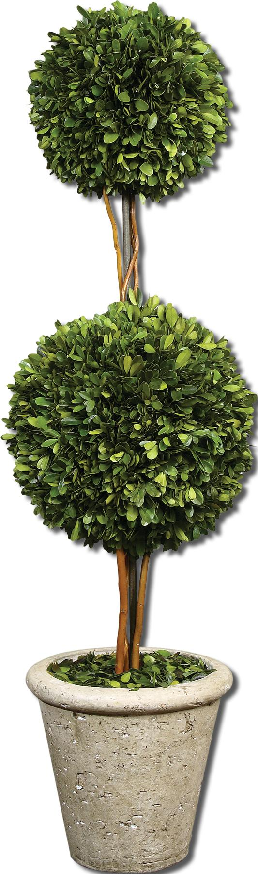 Botanicals Preserved Boxwood Two Sphere Topiary by Uttermost at Mueller Furniture