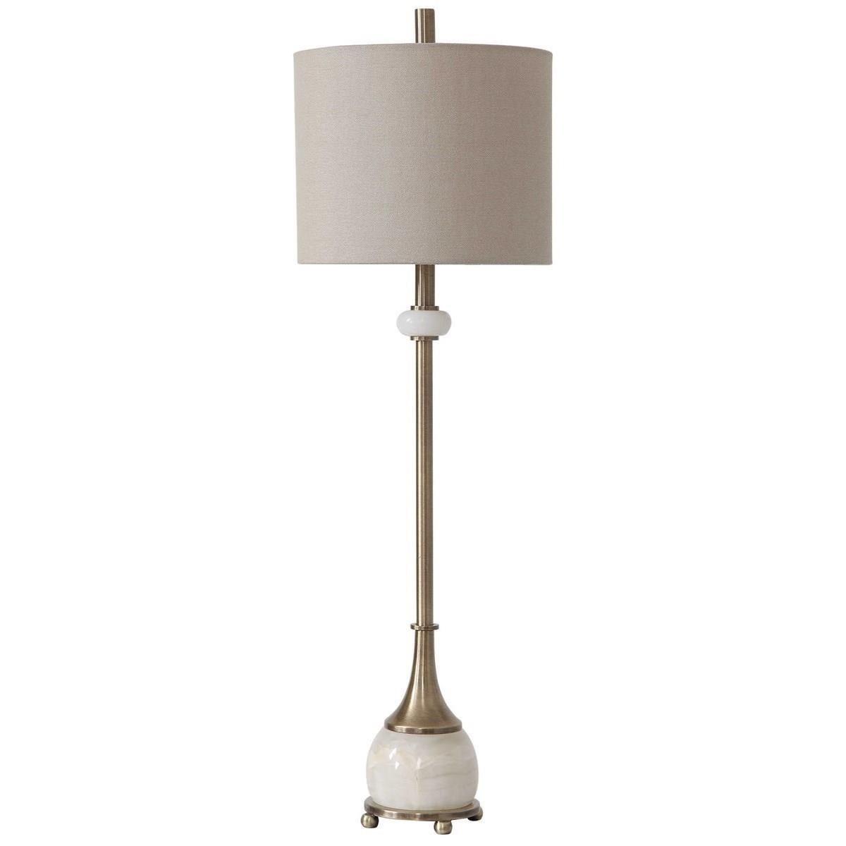 Natania Plated Brass Buffet Lamp