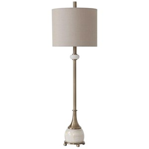 Natania Plated Brass Buffet Lamp