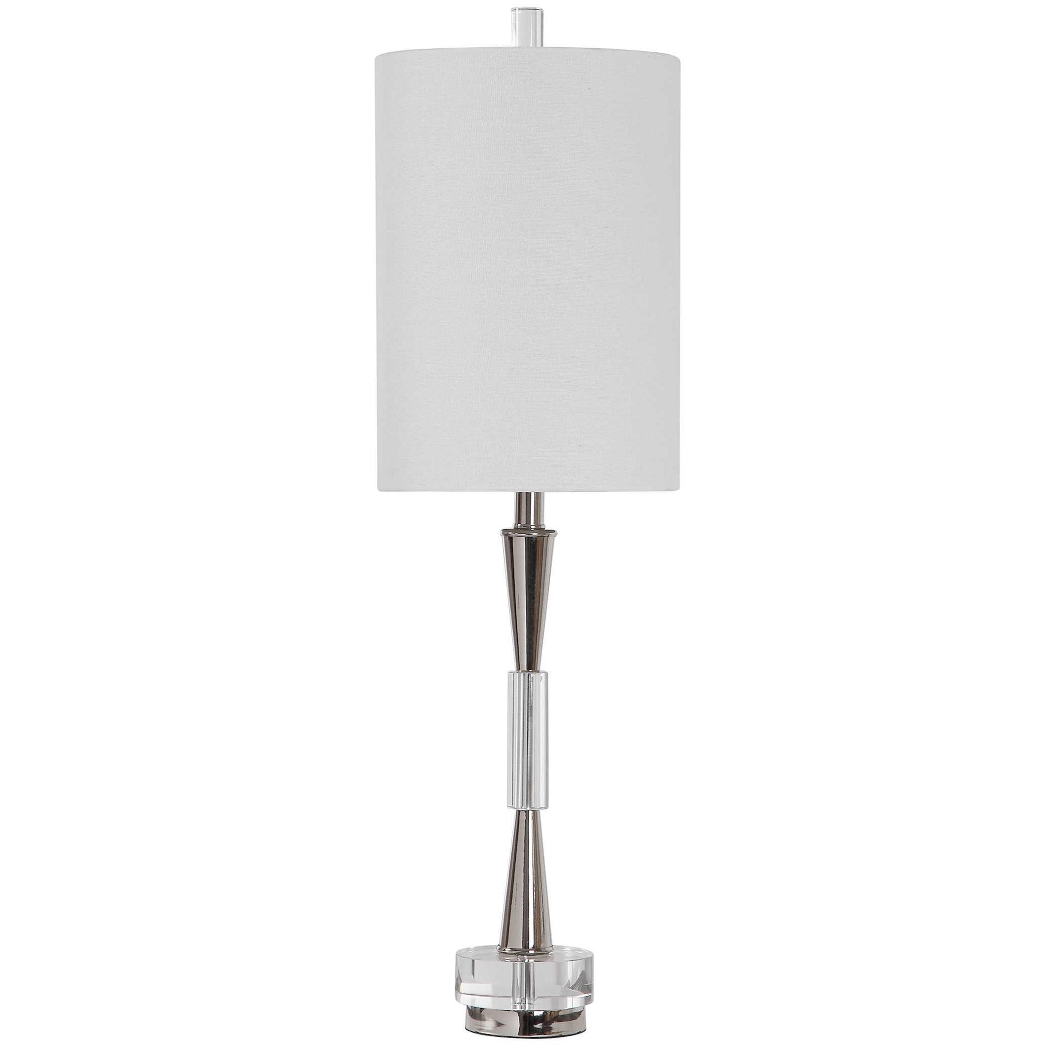 Azaria Polished Nickel Buffet Lamp