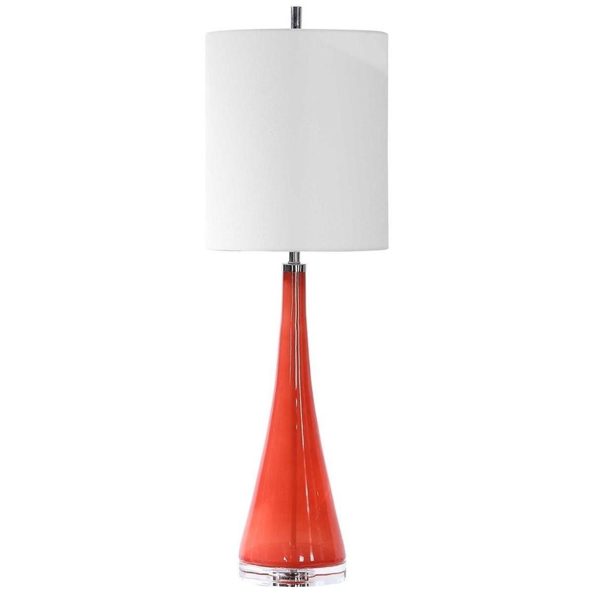 Ariel Tapered Glass Buffet Lamp