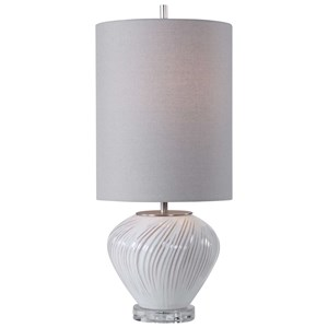 Lucerne White Buffet Lamp