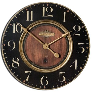 "Uttermost Clocks Alexandre Martinot 23"" Wall Clock"