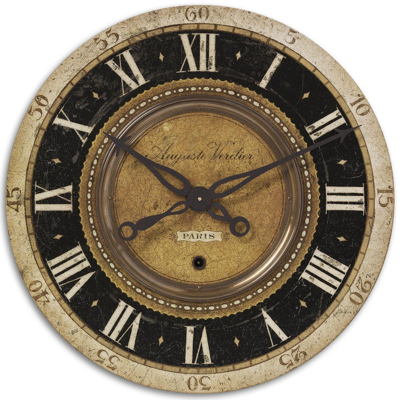 Uttermost Clocks Auguste Verdier Clock - Item Number: 06028