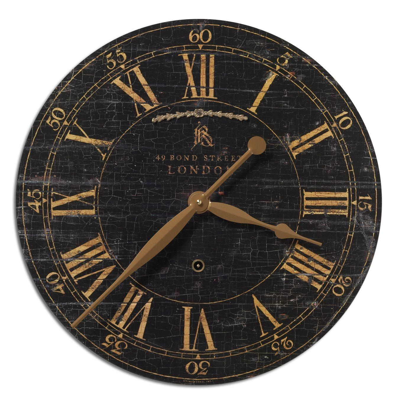 """Uttermost Clocks Bond Street 18"""" Clock - Item Number: 06029"""