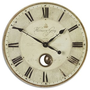 "Uttermost Clocks Harrison Gray 23"" Wall Clock"