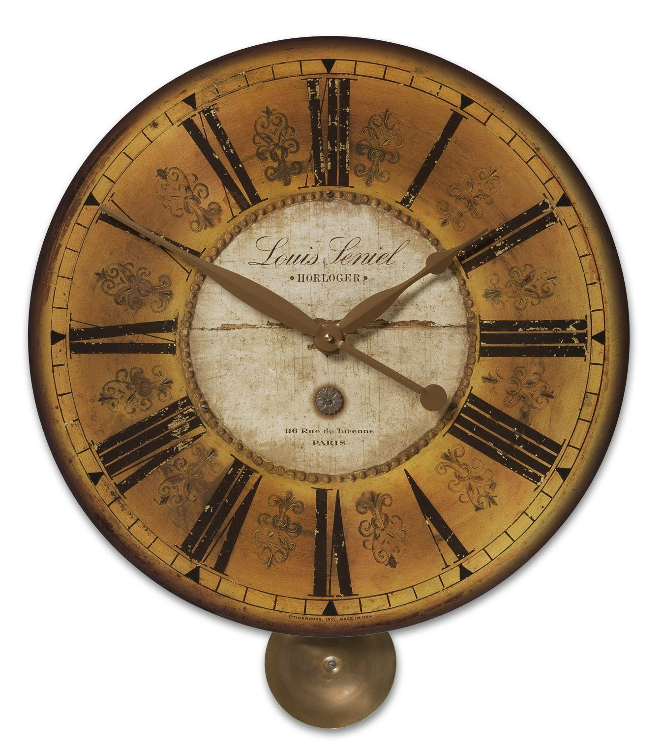 Uttermost Clocks Louis Leniel Clock - Item Number: 06034