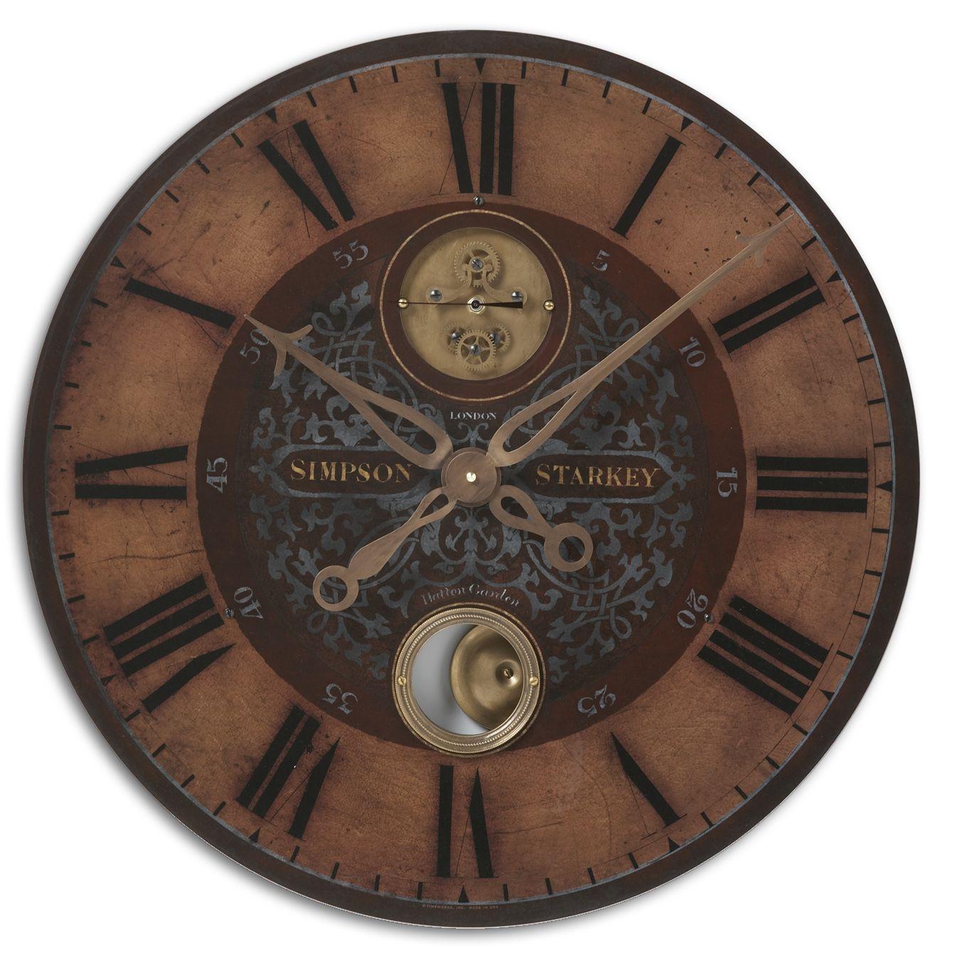 Uttermost Clocks Simpson Starkey Clock - Item Number: 06038