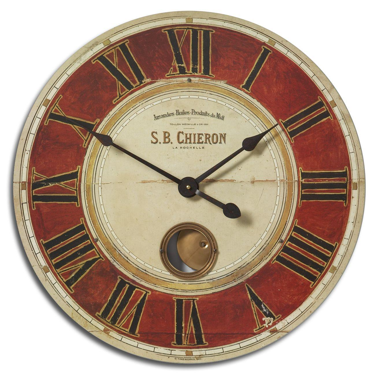 "Uttermost Clocks S.B. Chieron 23"" Clock - Item Number: 06042"