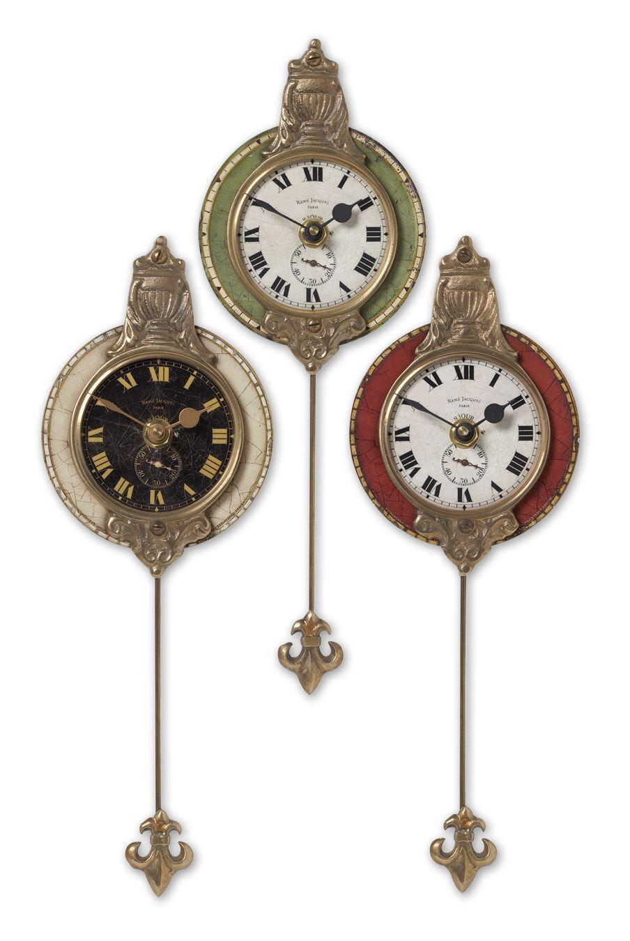 Uttermost Clocks Monarch Clocks Set of 3 - Item Number: 06046
