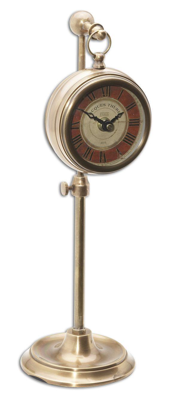 Uttermost Clocks Pocket Watch Brass Thuret Clock - Item Number: 06068