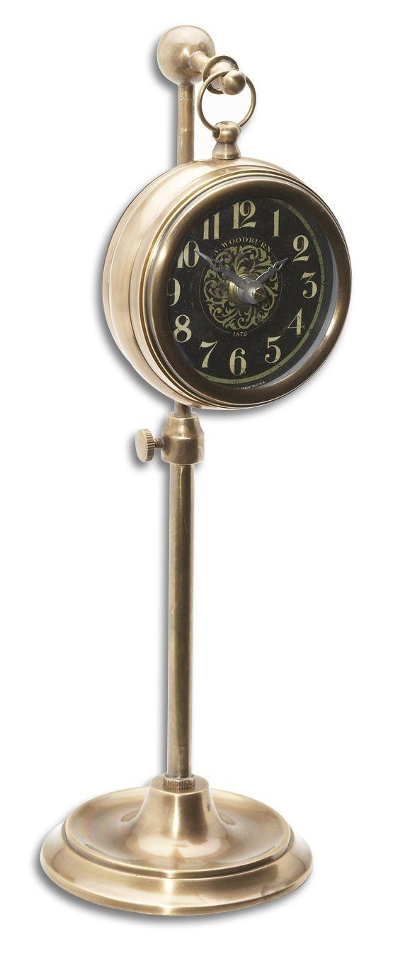 Uttermost Clocks Pocket Watch Brass Woodburn Clock - Item Number: 06069
