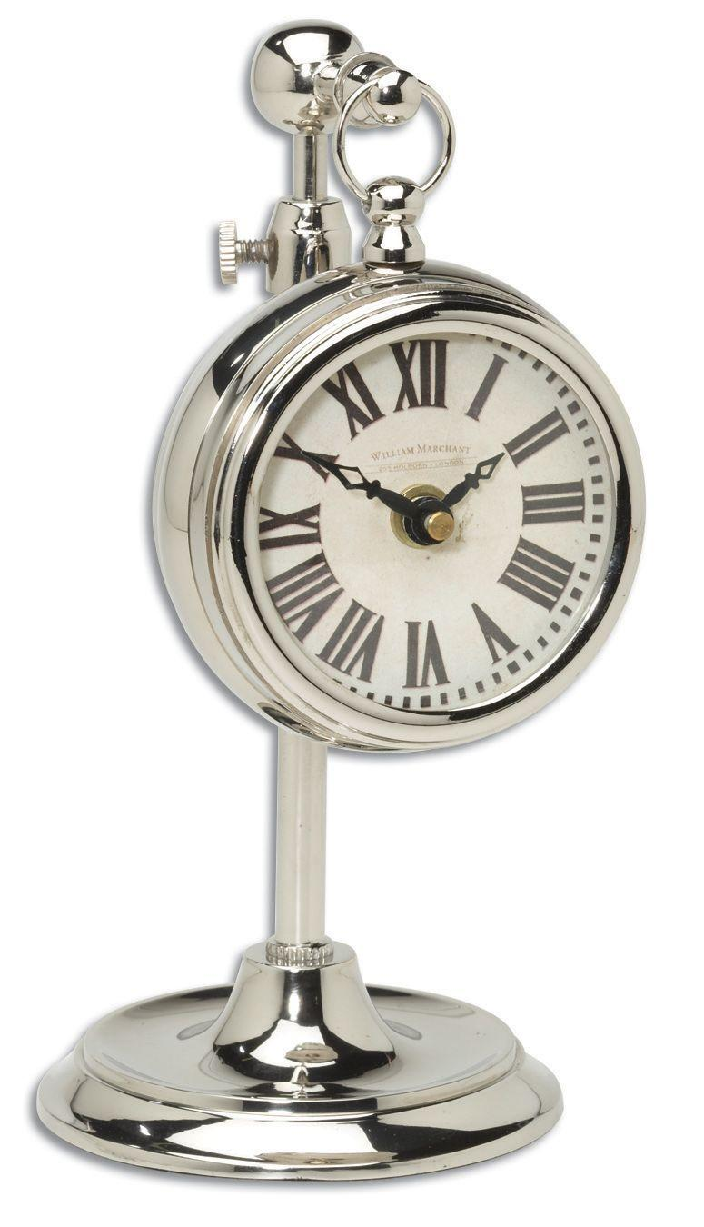 Uttermost Clocks Pocket Watch Nickel Marchant Cream Clock - Item Number: 06070