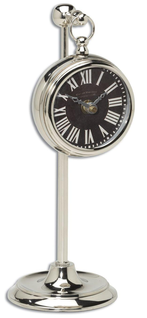 Uttermost Clocks Pocket Watch Nickel Marchant Black Clock - Item Number: 06071