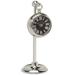 Pocket Watch Nickel Marchant Black Clock