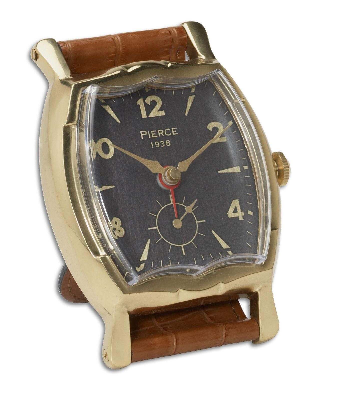 Uttermost Clocks Wristwatch Alarm Square Pierce Clock - Item Number: 06075