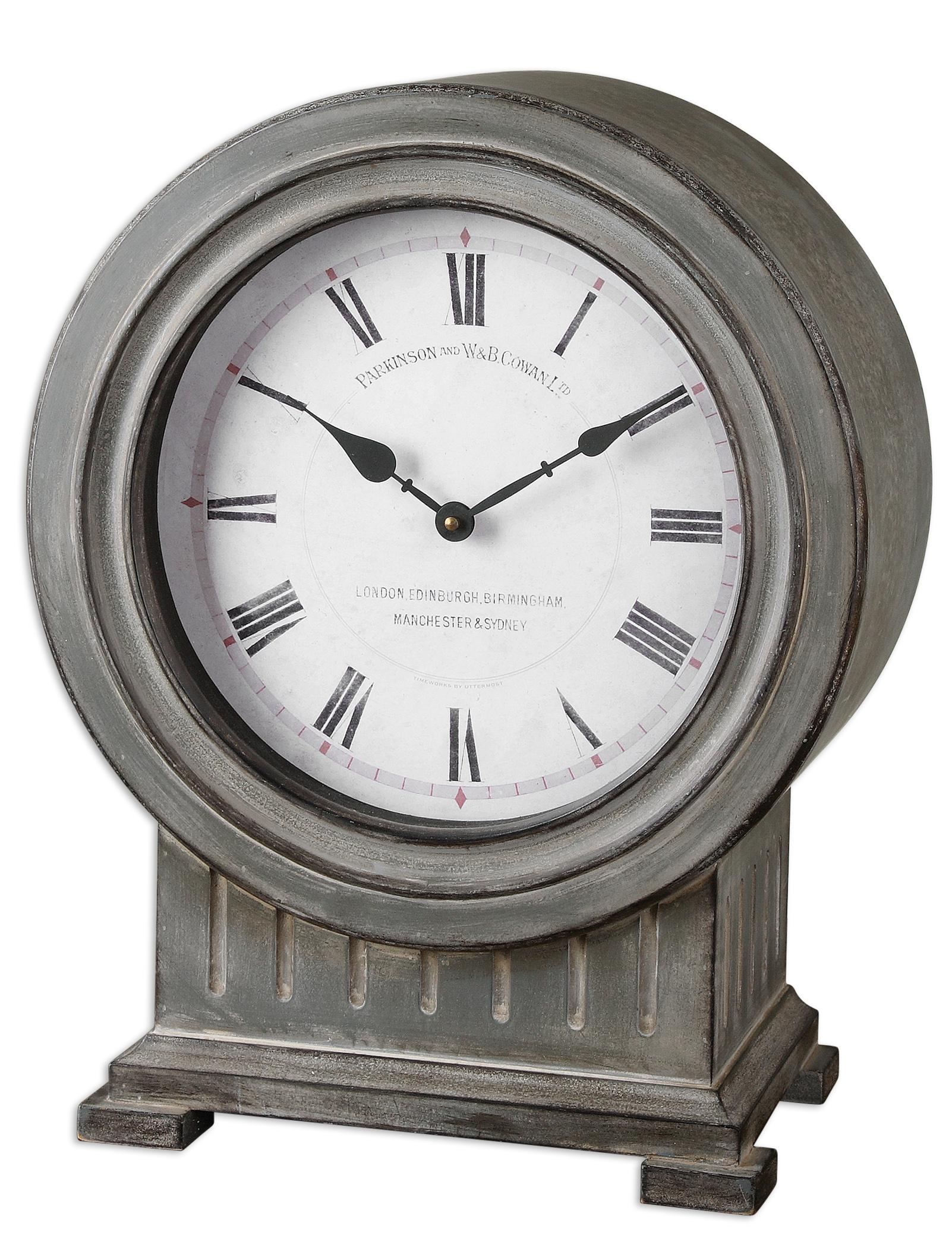 Uttermost Clocks Chouteau Mantel Clock - Item Number: 06088