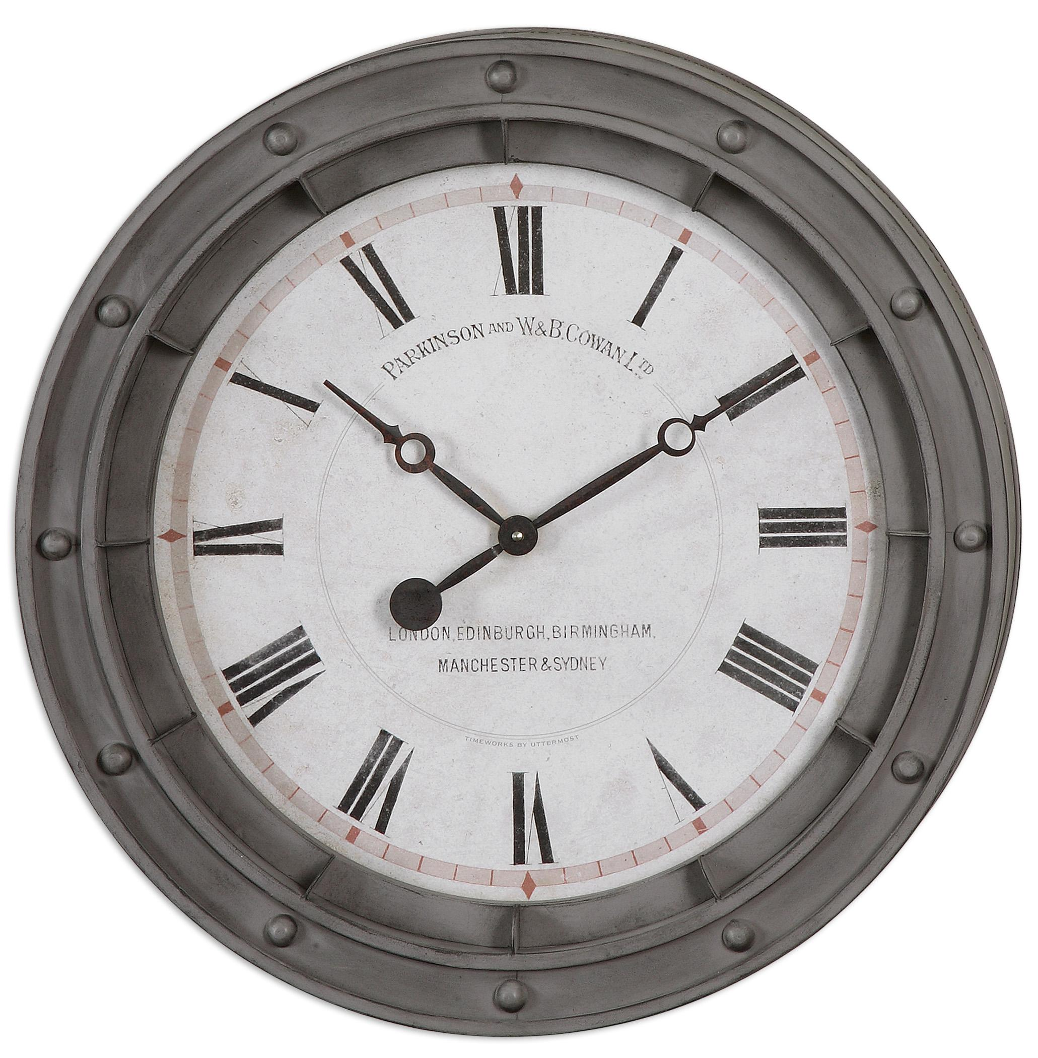 Uttermost Clocks Porthole Wall Clock - Item Number: 06092