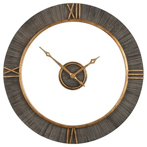 Uttermost Clocks Alphonzo Modern Wall Clock