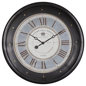 Uttermost Clocks Uttermost Jayden Round Wall Clock