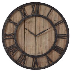 Uttermost Clocks Powell Wooden Wall Clock