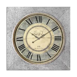 Uttermost Clocks Rue de Paris Square Wall Clock