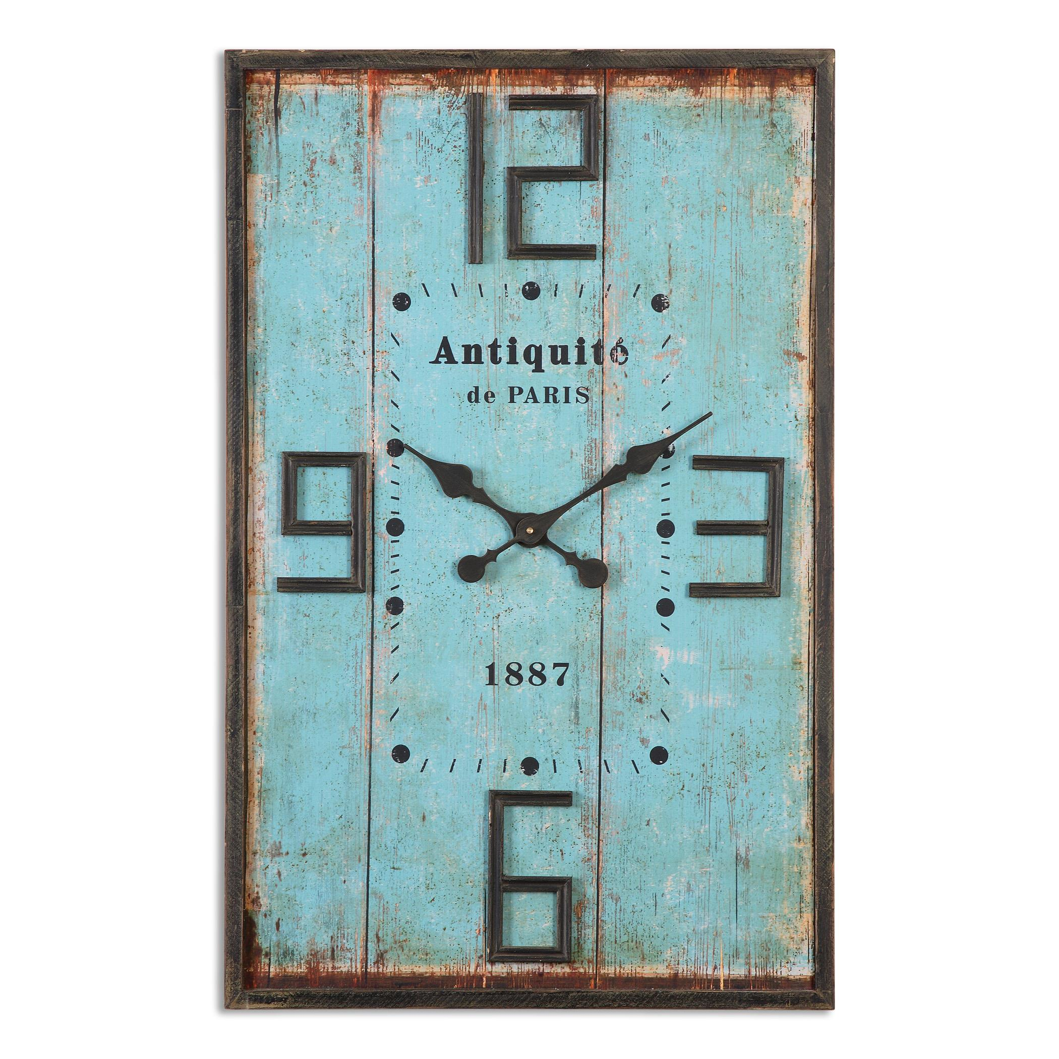 Uttermost Clocks Antiquite Distressed Wall Clock - Item Number: 06425