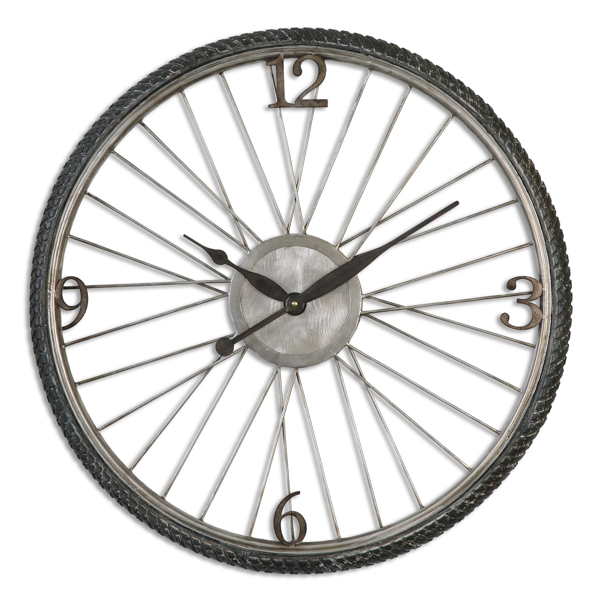 Uttermost Clocks Spokes Aged Wall Clock - Item Number: 06426