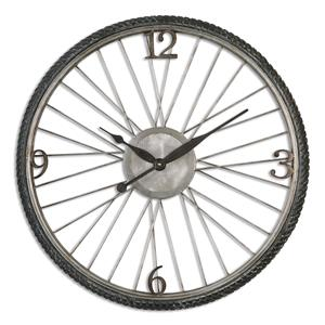 Spokes Aged Wall Clock