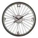 Uttermost Clocks Spokes Aged Wall Clock