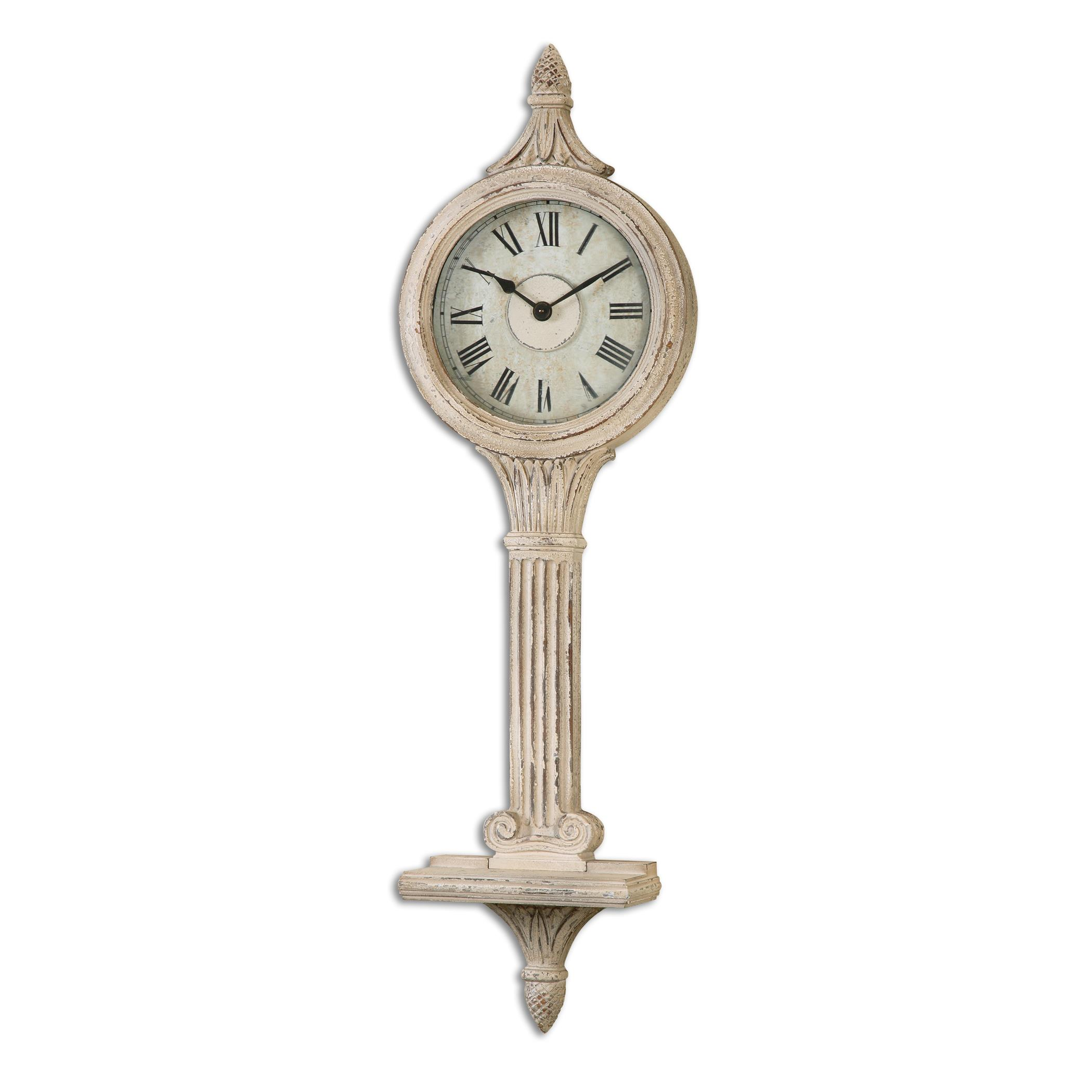 Uttermost Clocks Louisa Antiqued Ivory Wall Clocks - Item Number: 06427