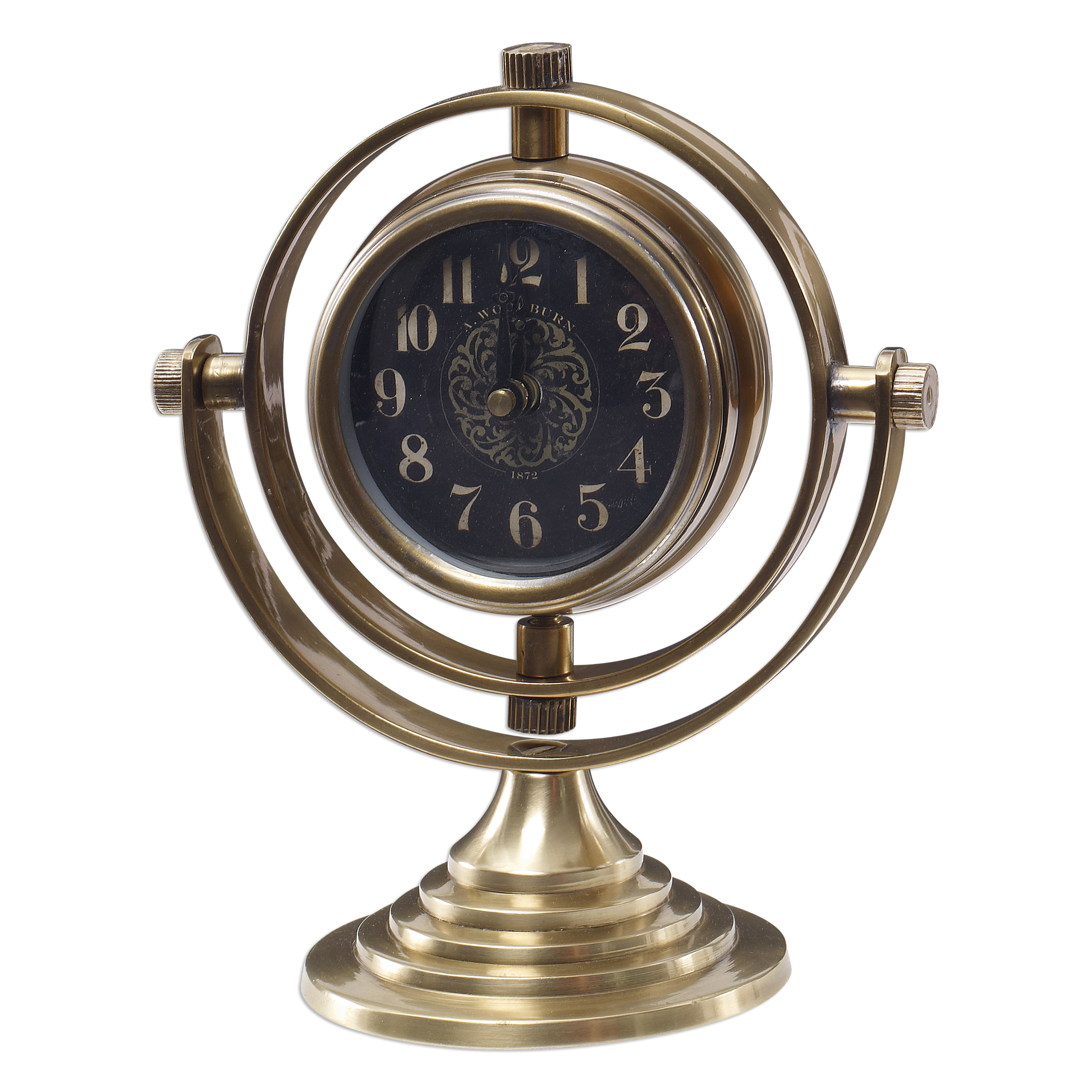 Uttermost Clocks Almonzo Table Clock - Item Number: 06430