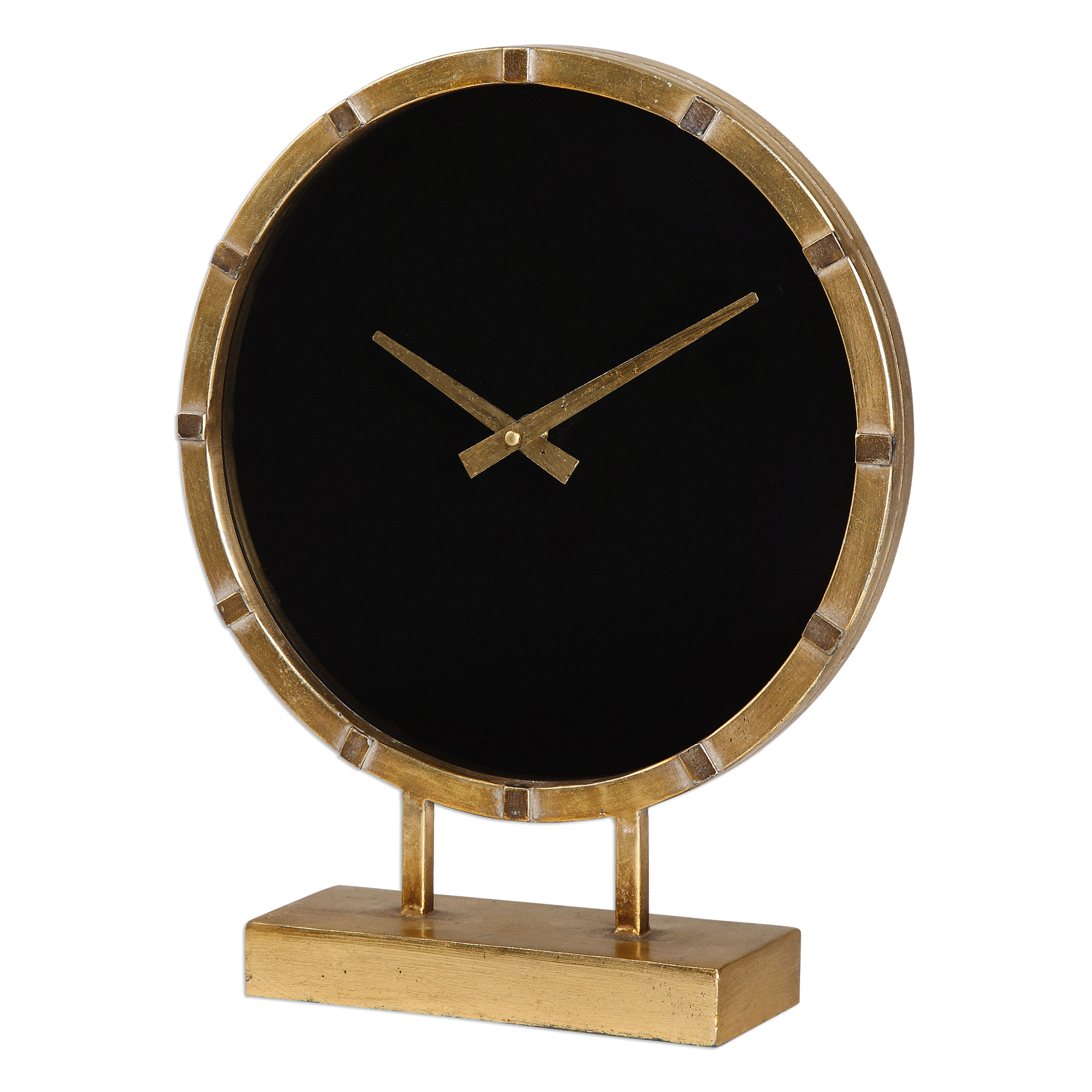 Uttermost Clocks Aldo Gold Table Clock - Item Number: 06433