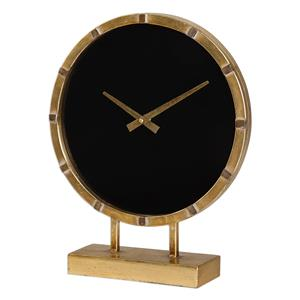 Uttermost Clocks Aldo Gold Table Clock