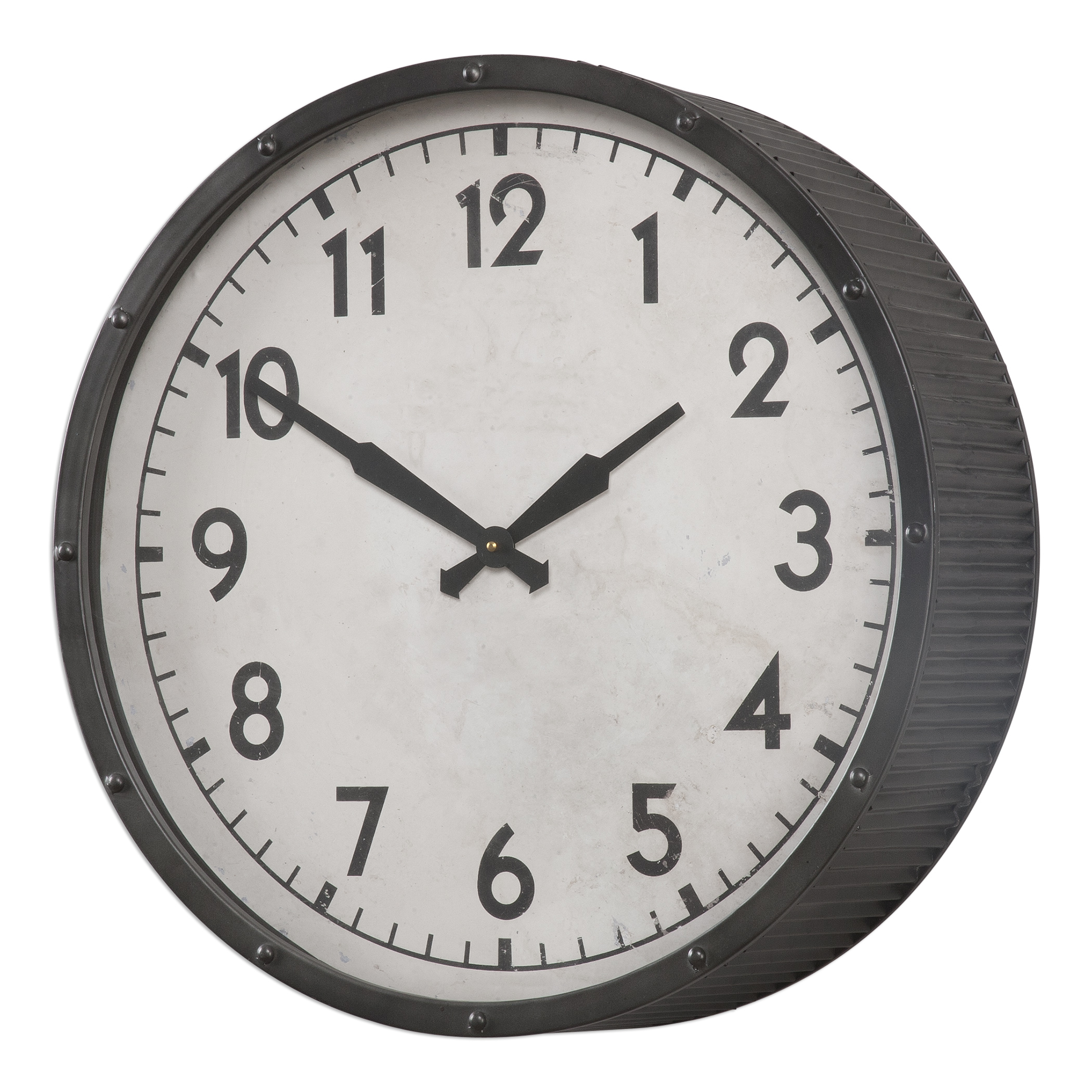 Uttermost Clocks Berta Ivory Wall Clock - Item Number: 06434