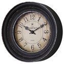 Uttermost Clocks Melania Aged Black Wall Clock - Item Number: 06435