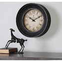 Uttermost Clocks Melania Aged Black Wall Clock