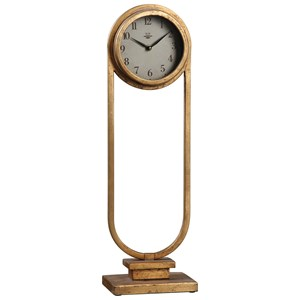 Uttermost Clocks  Alard Gold Table Top Clock