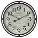 Uttermost Clocks Uttermost Nakul Industrial Wall Clock  - Item Number: 06449